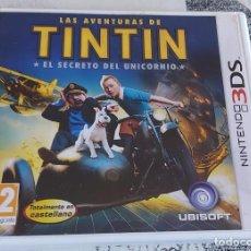 Videojuegos y Consolas: TINTIN Y EL SECRETO DEL UNICORNIO NINTENDO 3DS PAL ESPAÑA COMPLETO UBISOFT. Lote 294371863