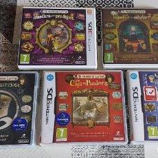 Videojuegos y Consolas: 5 JUEGOS PROFESOR LAYTON 3 DE NINTENDO DS Y 2 DE 3DS EL ASHALANTI PRECINTADO PAL ESPAÑA. Lote 294378523