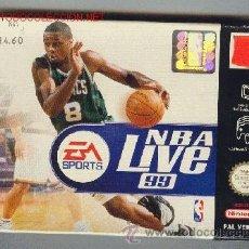 Videojuegos y Consolas: JUEGO PARA NINTENDO 64. NBA LIVE 99. CON INSTRUCCIONES Y CAJA. . Lote 25327536