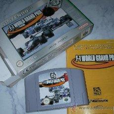 Videojuegos y Consolas: ANTIGUO JUEGO NINTENDO 64 F-1 WORLD GRAND PRIX NUEVO EN SU CAJA DE TIENDA. Lote 25531367