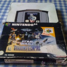 Videojuegos y Consolas: STAR WARS SHADOWS OF THE EMPIRE PARA NINTENDO 64 N64 PAL VERSIÓN ESPAÑOLA CON CAJA. Lote 60224138