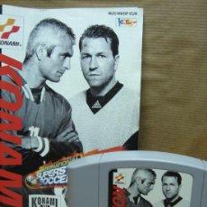 Videojuegos y Consolas: VIDEO JUEGO NINTENDO 64 - PAL - INTERNATIONAL SUPERSTAR SOCCER 98 - CON INSTRUCCIONES. Lote 29197628