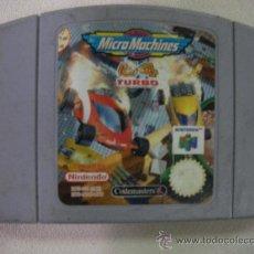 Videojuegos y Consolas: ANTIGUO JUEGO NINTENDO 64 MICROMACHINES 64 TURBO. Lote 32128601