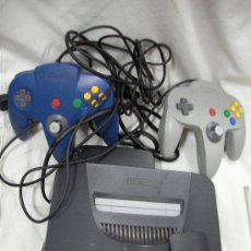 Videojuegos y Consolas: ANTIGUA CONSOLA NINTENDO 64 CON DOS MANDOS Y OTROS ACCESORIOS. Lote 32969177