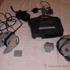 Videojuegos y Consolas: ANTIGUA CONSOLA NINTENDO 64 COM MANDOS Y ACCESORIOS VARIOS. Lote 36395356