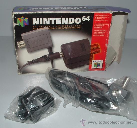 CABLE RF ANTENA NINTENDO 64 N64 EN CAJA . OFICIAL PARA CONSOLA (Juguetes - Videojuegos y Consolas - Nintendo - Nintendo 64)