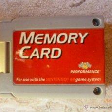 Videojuegos y Consolas: MEMORY CARD NINTENDO 64. Lote 40360090