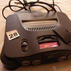 Videojuegos y Consolas: ANTIGUA CONSOLA NINTENDO 64 CON CARTUCHO MEMORIA. Lote 41491556