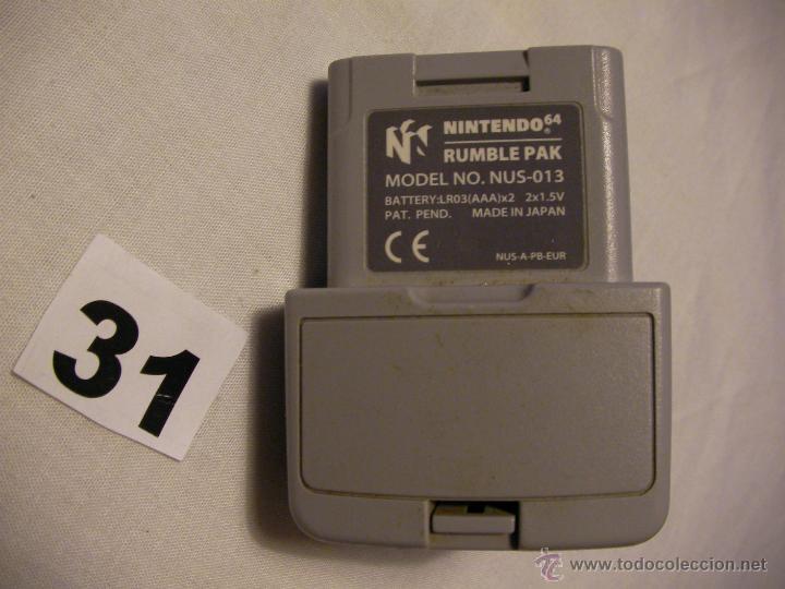 ANTIGUO RUMBLE PAK NINTENDO 64 (Juguetes - Videojuegos y Consolas - Nintendo - Nintendo 64)