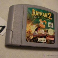 Videojuegos y Consolas: ANTIGUO JUEGO NINTENDO 64 - RAYMAN 2 - LA GRAN ESCAPADA. Lote 42325105