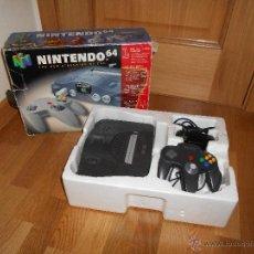 Videojuegos y Consolas: CONSOLA NINTENDO 64 N64 PAL COMPLETA LOTE CON CAJA FUNCIONANDO BUEN ESTADO. Lote 47331976