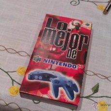 Videojuegos y Consolas: VHS, LO MEJOR DE NINTENDO 64. NUEVO. VISIONADO UNA VEZ PARA COMPROBAR.. Lote 73925725
