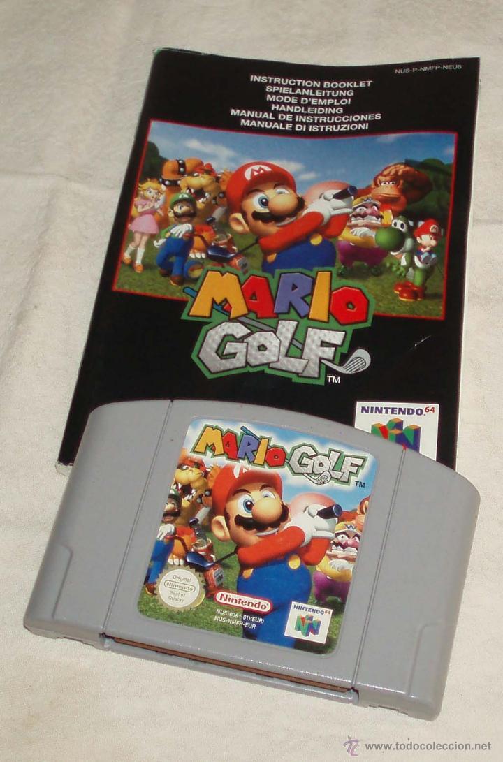JUEGO MARIO GOLF NINTENDO64 CON LIBRO DE INSTRUCCIONES (Juguetes - Videojuegos y Consolas - Nintendo - Nintendo 64)