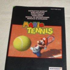 Videojuegos y Consolas: LIBRO DE INSTRUCCIONES JUEGO MARIO TENIS NINTENDO64. Lote 51465949