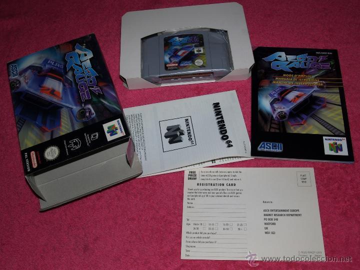 JUEGO PARA NINTENDO 64 AERO GAUGE COMPLETO VERSIÓN PAL EUR (Juguetes - Videojuegos y Consolas - Nintendo - Nintendo 64)