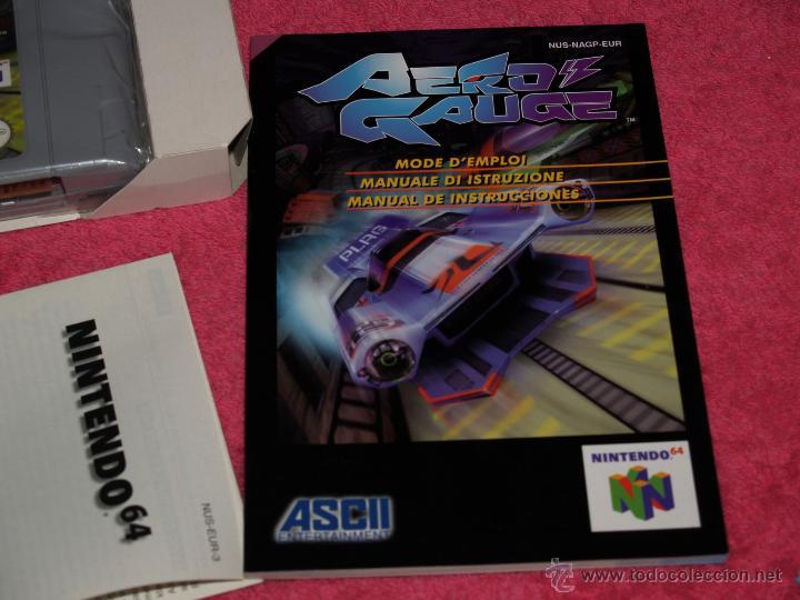 Videojuegos y Consolas: JUEGO PARA NINTENDO 64 AERO GAUGE COMPLETO VERSIÓN PAL EUR - Foto 2 - 268736734