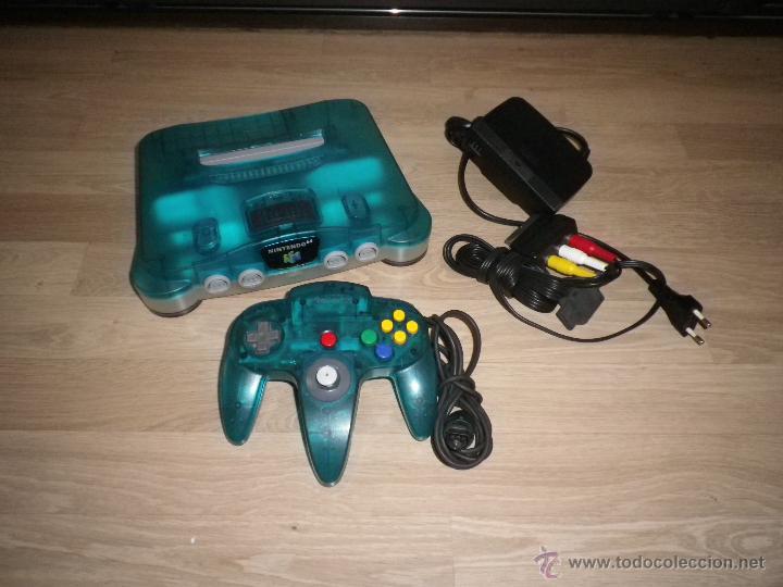NINTENDO 64 CONSOLA ICE BLUE LIMITED EDITION (Juguetes - Videojuegos y Consolas - Nintendo - Nintendo 64)