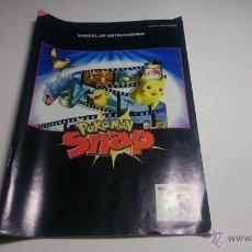 Videojuegos y Consolas: MANUAL DE INSTRUCCIONES POKEMON SNAP NINTENDO 64 ( PAL - ESPAÑA). Lote 54653092