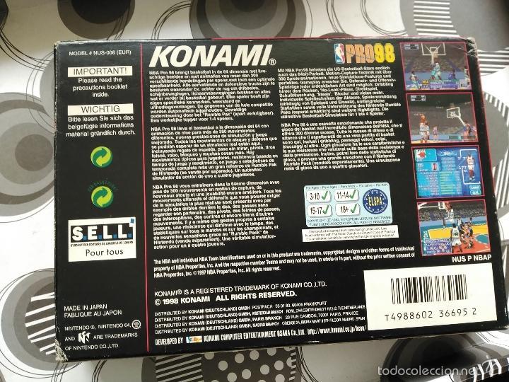 Videojuegos y Consolas: PRO 98 NINTENDO 64 NEW NUEVO A ESTRENAR KONAMI - Foto 3 - 57122450
