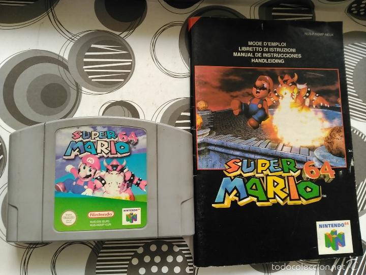 SUPER MARIO NINTENDO 64 NUEVO A ESTRENAR CON INSTRUCCIONES (Juguetes - Videojuegos y Consolas - Nintendo - Nintendo 64)