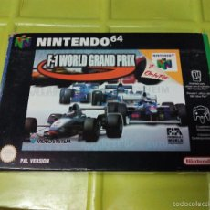 Videojuegos y Consolas: JUEGO CONSOLA NINTENDO 64 F1 WORLD GRAND PRIX. Lote 58331784