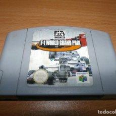 Videojuegos y Consolas: VIDEOJUEGO CONSOLA - NINTENDO 64 - F1 WORLD GRAND PRIX N64 JUEGO . Lote 96827551