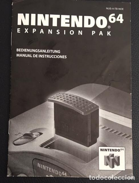 MANUAL DE INSTRUCCIONES NINTENDO 64 EXPANSION PAK PACK Juguetes