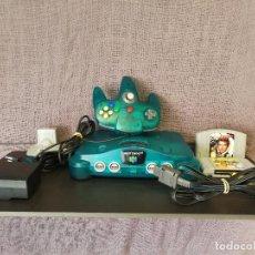 Videojuegos y Consolas: NINTENDO 64 VERDE TRANSPARENTE JUNGLE GREEN. Lote 88805752