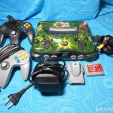 Videojuegos y Consolas: CONSOLA NINTENDO 64 ZELDA+MEMORI CARD PLUS+RUMBLE PACK ( REF 4 ). Lote 89374928