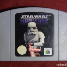 Videojuegos y Consolas: JUEGO STAR WARS SHADOWS OF THE EMPIRE PARA NINTENDO 64 N64 PAL VERSIÓN ESPAÑOLA. Lote 91387310