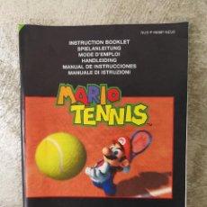 Videojuegos y Consolas: INSTRUCCIONES MARIO TENNIS NINTENDO 64 . Lote 93966155