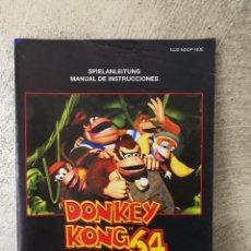 Videojuegos y Consolas: INSTRUCCIONES DONKEY KONG 64 NINTENDO 64 . Lote 93966530