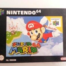 Videojuegos y Consolas: SUPER MARIO 64 NINTENDO 64 PAL ESPAÑOL EN EXCELENTE ESTADO. Lote 95662011