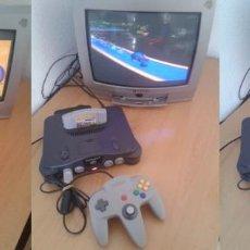 Videojuegos y Consolas: NINTENDO 64 N64 NEGRA BLACK COMPLETA TODO ORIGINAL PLENO FUNCIONAMIENTO VER!! R6519. Lote 95723963
