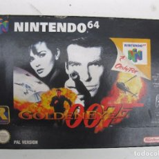 Videojuegos y Consolas: GOLDENEYE - JAMES BOND - 007 - JUEGO PARA NINTENDO 64 - PAL VERSION - EN CAJA Y CON INSTRUCCIONES.. Lote 97913375