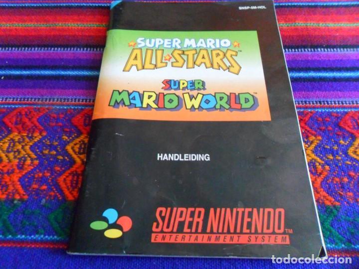 SUPER NINTENDO ALL STARS SUPER MARIO WORLD INSTRUCCIONES DE BÉLGICA  70  PÁGINAS A COLOR