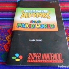Videojuegos y Consolas: SUPER NINTENDO ALL STARS SUPER MARIO WORLD INSTRUCCIONES DE BÉLGICA. 70 PÁGINAS A COLOR.. Lote 101922083