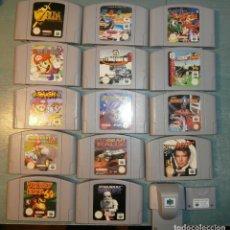 Videojuegos y Consolas: 14 JUEGOS DE NINTENDO 64 SIN CAJA MAS DOS COMPLEMENTOS. Lote 103709623