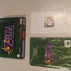Videojuegos y Consolas: CAJA Y MANUAL ZELDA MAJORA'S MASK N64 NINTENDO 64 , TODO ES ORIGINAL 100% JUEGO NO INCLUIDO. Lote 109082523