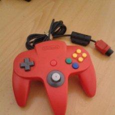 Videojuegos y Consolas: NINTENDO 64 MANDO CONTROLLER ROJO INTENSO ORIGINAL RED N64 MAGNIFICO ESTADO R6889. Lote 109602411