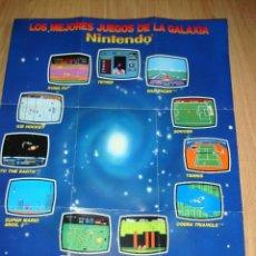 Videojuegos y Consolas: ANTIGUA TARJETA DE SUSCRIPCION PARA AMIGOS DE NINTENDO MAS POSTERS LOS MEJORES JUEGOS DE GALAXIAS 40. Lote 120590838