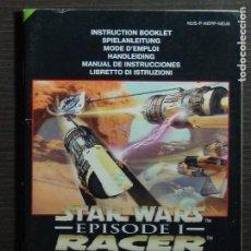 Videojuegos y Consolas: MANUAL STAR WARS-EPISODE 1-RACER NINTENDO N64 ¡¡SOLO MANUAL!!. Lote 118703151