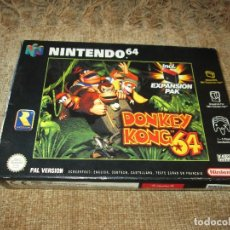 Videojuegos y Consolas: NINTENDO 64 ~ DONKEY KONG 64 + JUMPER PAK ~ ESPAÑA/PAL ~ LEER!!. Lote 126951051