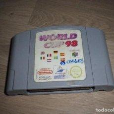 Videojuegos y Consolas: N64 NINTENDO 64 JUEGO WORLD CUP 98 PAL. Lote 128486019
