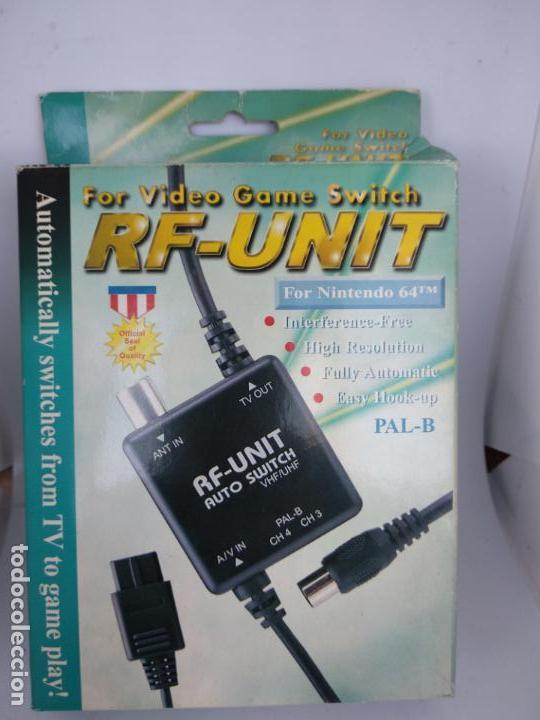 RF UNIT COMPATIBLE NINTENDO 64 NUEVO ESTRENAR (Juguetes - Videojuegos y Consolas - Nintendo - Nintendo 64)