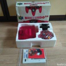 Videojuegos y Consolas: NINTENDO 64 N64 CONSOLA EDICIÓN LIMITADA WATERMELON COMPLETA. Lote 140138974
