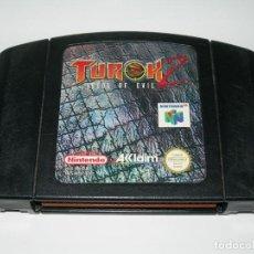 Videojuegos y Consolas: JUEGO TUROK 2 SEEDS OF EVIL PARA CONSOLA NINTENDO 64 / N64 / NINTENDO64 - SÓLO CARTUCHO -. Lote 141762246