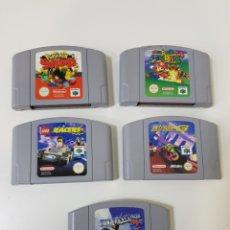 Videojuegos y Consolas: LOTE 5 JUEGOS NINTENDO 64 - SUPER MARIO 64 - LEGO RACERS - POKÉMON SNAP - EXTREME-G - PILOT WINGS 64. Lote 144549646