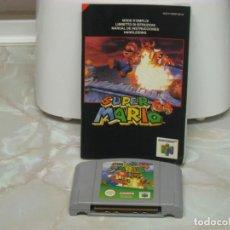 Videojuegos y Consolas: JUEGO NINTENDO 64 SUPER MARIO BROSS (1997) CARTUCHO Y LIBRO DE INSTRUCCIONES (FALTA LA CAJA). Lote 146780230