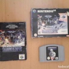 Videojuegos y Consolas: NINTENDO 64 STAR WARS SHADOWS OF THE EMPIRE COMPLETO CIB PAL ESPAÑA N64 LEER R8283. Lote 147072930
